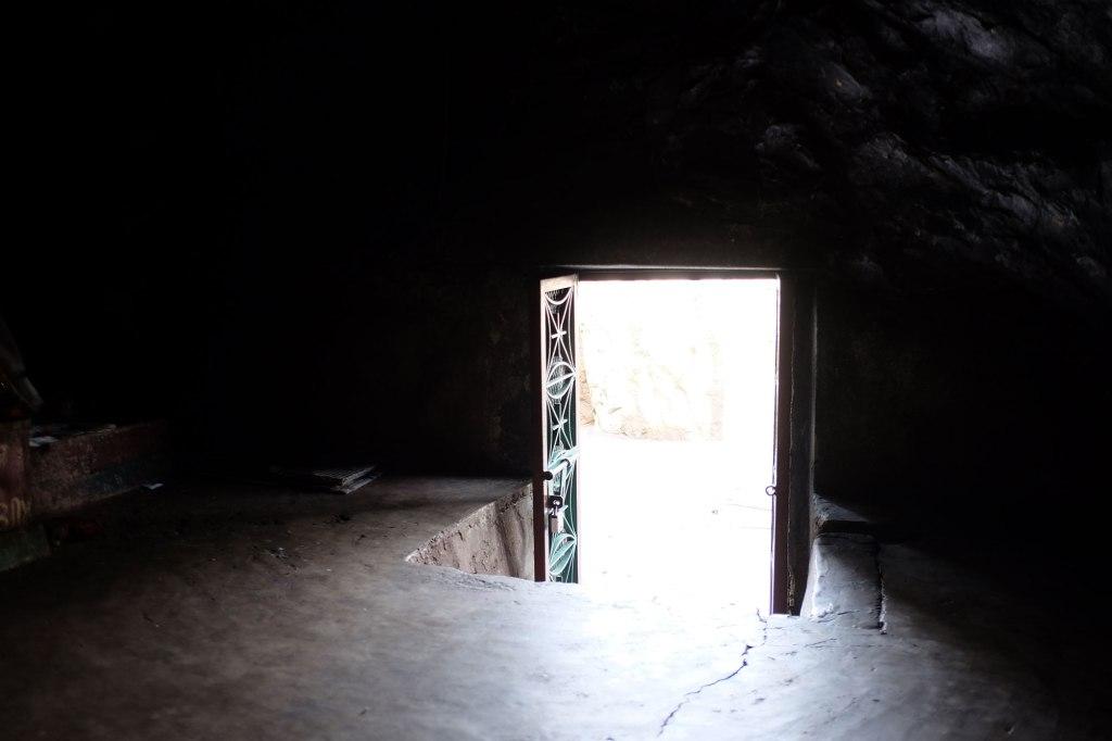 Before becoming the Buddha, the yogi Gautama Siddhartha stayed six years in this cave, meditating.